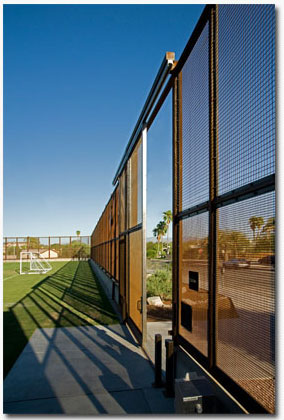Maintenance Gate on Athletic Field at the UA in Tucson